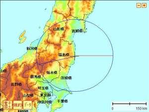 同心円で福島県を囲んでみた
